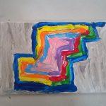 """""""Geometrie di colori"""" acrilico su tela M.F.2016"""