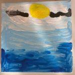 """""""Il cielo è sempre più blu"""" acrilico su tela (M.F.2016)"""
