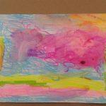 """""""Vivere a colori"""" pastelli a cera su foglio (M.F.2016)"""
