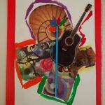 """""""Collage di me"""" collage su foglia con applicazioni M.F. 2016"""