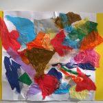 """""""Fantasia di colori"""" carta velina su cartoncino (M.F.2017)"""