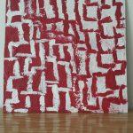 """bianca come il latte rossa come il sangue""""  acrilico su tela (M.F 2017)"""