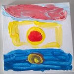 """""""il sole esiste per tutti"""" acrilico su tela M.F. 2016"""