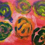 """""""Spirali nel vento"""" acrilico su tela M.F. 2016"""